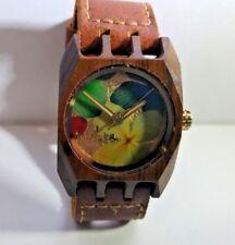 Mistura Wood Watch, Flowers, Worn Once!