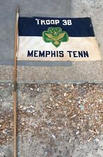 Girl Scout Vintage Memphis flag banner With Pole, Troop 38 Memphis Tennessee
