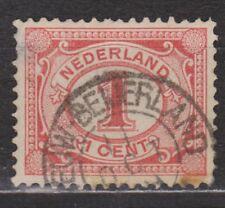 NVPH Netherlands Nederland 51 TOP CANCEL NIEUW BEIJERLAND Cijfer 1899