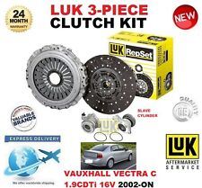 FOR VAUXHALL VECTRA 1.9 CTDi 16V CLUTCH KIT 2002-ON LUK 3 PIECE w SLAVE CYLINDER