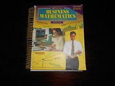 Abeka BUSINESS MATHEMATICS Teacher edition homeschooling Arithmetic current