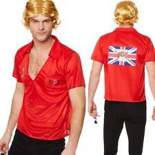Mens 80s Darts Champion Costume Eric Bristow Sport Fancy Dress Outfit