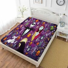 The Nightmare Before Christmas Deep Pocket Fitted Sheet Set 3PCS Pillowcases