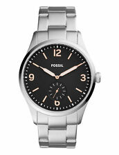 Fossil FS5245 Vintage 54 Silver Stainless Steel Black Dial Men's 42mm Watch