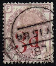 Victoria 1883 3d. on 3d. lilac (plate 21), used (SG#159)