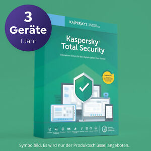 Kaspersky Total Security 2020 für 3 Geräte 1 JAHR Vollversion per EMAIL SOFORT