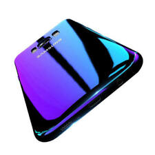Blue Ray Gradient Colour Mirror Hard Back Case Cover For Samsung Galaxy S7 S8+