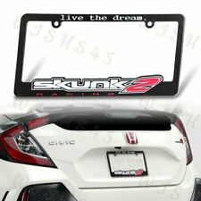 """SKUNK2 RACING """"LIVE the Dream"""" License Plate Frame+Cap for Honda Civic AcuraX1"""