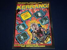 1984 MARCH 8-21 KERRANG! MAGAZINE - VISION ONL COVER - MUSIC ISSUE - A 1971