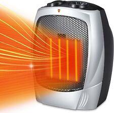 Kismile Small Space Heater Electric Portable Heater Fan Ceramic Fan Thermostat