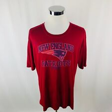 New England Patriots NFL Red Short Sleeve T-Shirt Mens XL X-Large