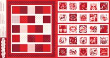 Festive Magic Advent Calendar Fabric Panel 1502 by Daswood Studio 100% Cotton
