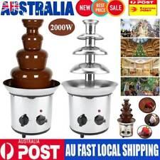 Chocolate Fondue Fountain Waterfall Melting Machine 4 Tiers Stainless Steel AU