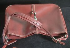 HANDSOME RED COACH LEATHER BAG PURSE TT940