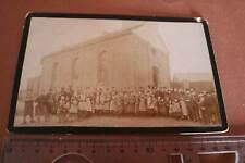 tolles altes Foto auf Pappe  Personen vor einer Kirche Neuwied - Albert Eisele