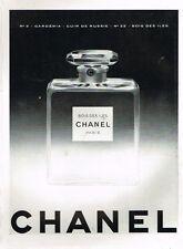 F- Publicité Advertising 1955 Parfum Bois des iles Chanel N°22