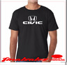 HONDA CIVIC T-SHIRT NEW BLACK WITH WHITE  LOGO  FREE SHIPPING