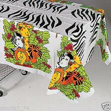 ZOO Safari Rain Forest  Jungle Animal Party Decoration Plastic TABLE COVER