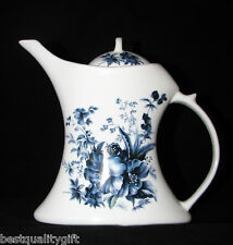 NEW CERAMIC WHITE WITH COLBALT BLUE FLOWERS TEA POT,TEAPOT