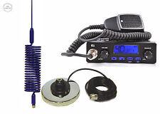 CB RADIO + CB ANTENNA MINI SPRINGER BLUE + MAGNETIC MAGNET BASE 27MhZ