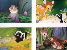4 Disney Catalog presale Lithographs BAMBI 2005 MINT