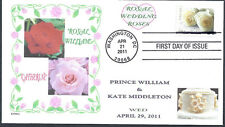 PRINCE WILLIAM AND KATE   ROYAL WEDDING ROSES   FDC- DWc CACHET