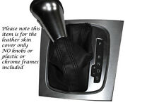 BLACK STITCH FITS AUDI A3 2005-2012 DSG AUTO AUTOMATIC LEATHER GEAR GAITER ONLY