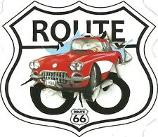 ROUTE 66  AND CORVETTE   Sticker Decal