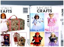 """2 McCall s OOP PATTERNS M4741 & 9119 Doll Dress Clothes Fits 18"""" American Girl"""