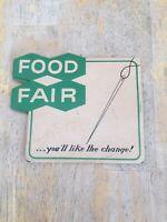 Vintage Advertising--Food Fair--SEWING  NEEDLE CASE with original Needles