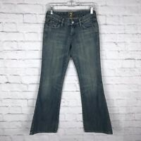 7FAM 7 For All Mankind Womens Medium Wash Size 26 Flare Leg A Pocket Jeans