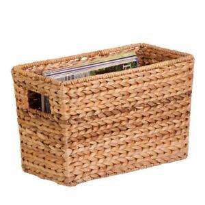 Water Hyacinth Storage Basket, Natural
