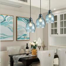 Glass Lamp Kitchen Pendant Light Modern Ceiling Lights Blue Chandelier Lighting