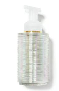 Bath & Body Works Iridescent Resin Foaming Hand Soap Holder Dispenser Refillable