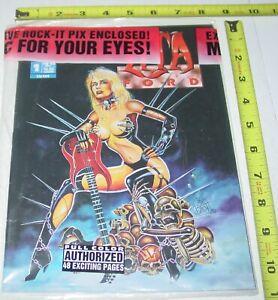 LITA FORD #1 Rock-It Comix Malibu Comic Magazine w/ Guitar Pick SEALED Runaways