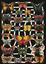 German Vintage Style Embossed Scrap Die Cut - Beautiful Bold Butterflies  EF7324