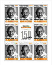 More details for djibouti famous people stamps 2020 mnh mahatma gandhi historical figures 8v m/s