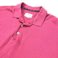 Vintage Giorgio Armani Jeans Men's Polo Shirt Spell Out Logo Pink • XL