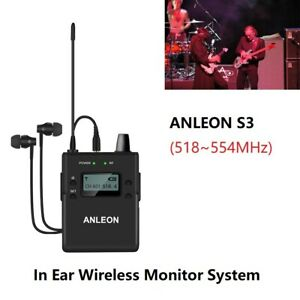 ANLEON Advanced S3 Receiver ±40 kHz DC9V/500mA Monitor System Fit For Performers