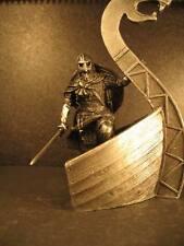 Soldado De Plomo, Viking en el barco, sin pintar, hecho a mano, Coleccionable, Raro