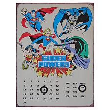 Dc Comics Super Powers Perpétuel Métal Plaque Calendrier Everlasting
