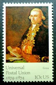 1537 MNH 1974 10c UPU Famous Art Francisco de Goya Universal Postal Union