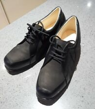 1OR UK Size 5 Black Ladies Leather Slim Fitting Women Comfort Medical Shoes