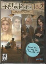 LETTERS FROM NOWHERE 1 & 2 Hidden Object Adventure PC Game CD-ROM NEW