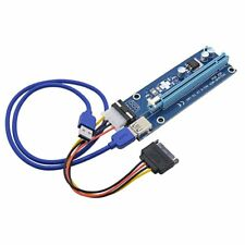 New USB 3.0 PCI PCI-E Express 1x To 16x Extender Riser Card Adapter Power Cable