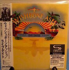 WISHBONE ASH LIVE DATES VOL II JAPAN SHM MINI LP 2 CD NEW