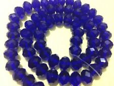 Wholesale Blue Crystal Faceted Abacus Loose Bead 6*8mm 70pcs