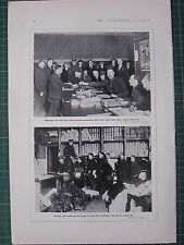 1916 WWI WW1 PRINT ~ SERVING OUT UNIFORMS MEMBERS OF FIRST FOUR FIRST DAY'S PAY