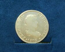 Spanish Colonial 2 Real Silver Coin 1816 JP Ferdinand VII Minted in Peru 5158