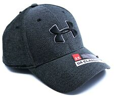 UNDER ARMOUR Gray Heather Mesh Classic Fit M/L Stretch Band Cap Hat 1305037-001